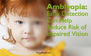 Amblyopia young girl